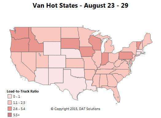 Van freight: Texas demand sees GATS effect, rates sag nationally, and volume rises