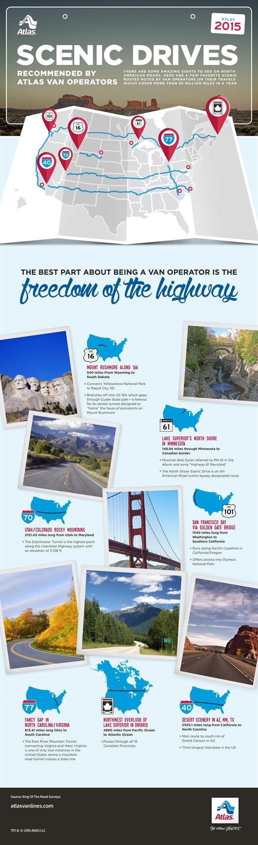 What's your favorite, most-scenic route around the U.S. and Canada?
