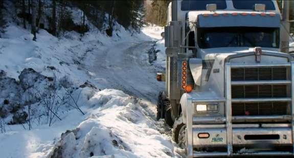 Melting ice causes problems for 'Ice Road Truckers' drivers