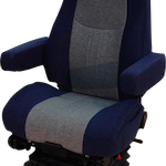 National Seating's Commodore seat features a 23-inch-wide cushion and is designed to conform to the driver with three zones of air adjustment.