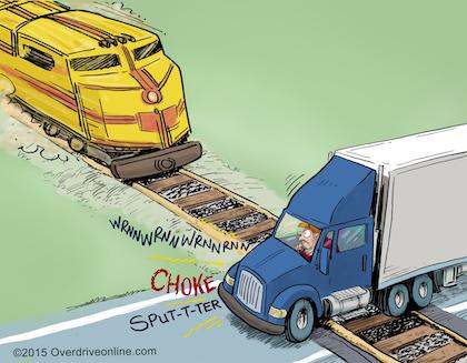 30-Second Trucker Tip: Stalled on train tracks!