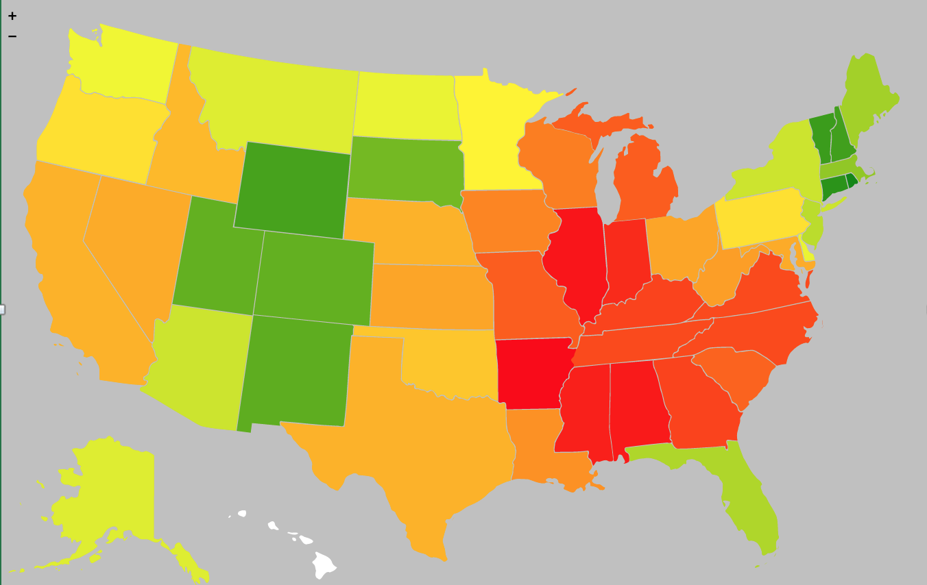 The deep south is hot — for rates