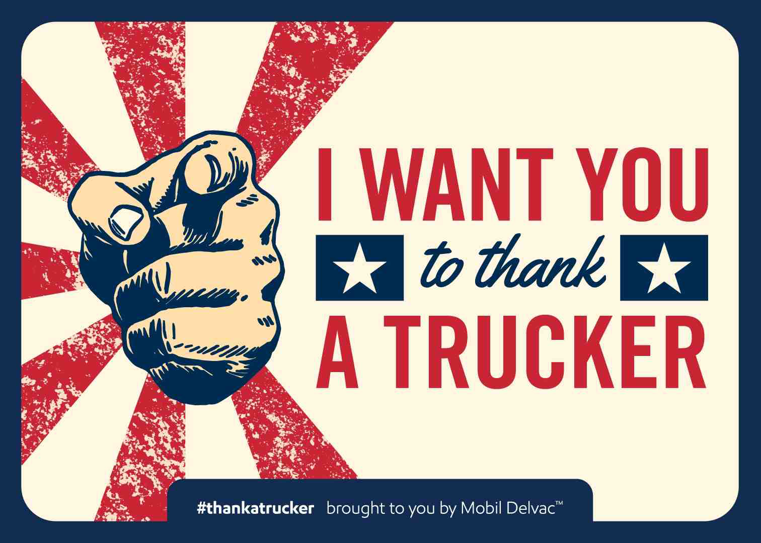 This is one of the postcards Mobil Delvac designed to thank drivers.