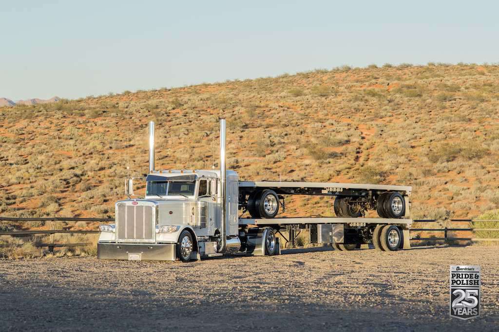 Tim Miller's 2014 Peterbilt 389 and PT Welding flatbed picked up the Best of Show, Working Combo nod at the 2015 PDI Pride & Polish show, held last October.
