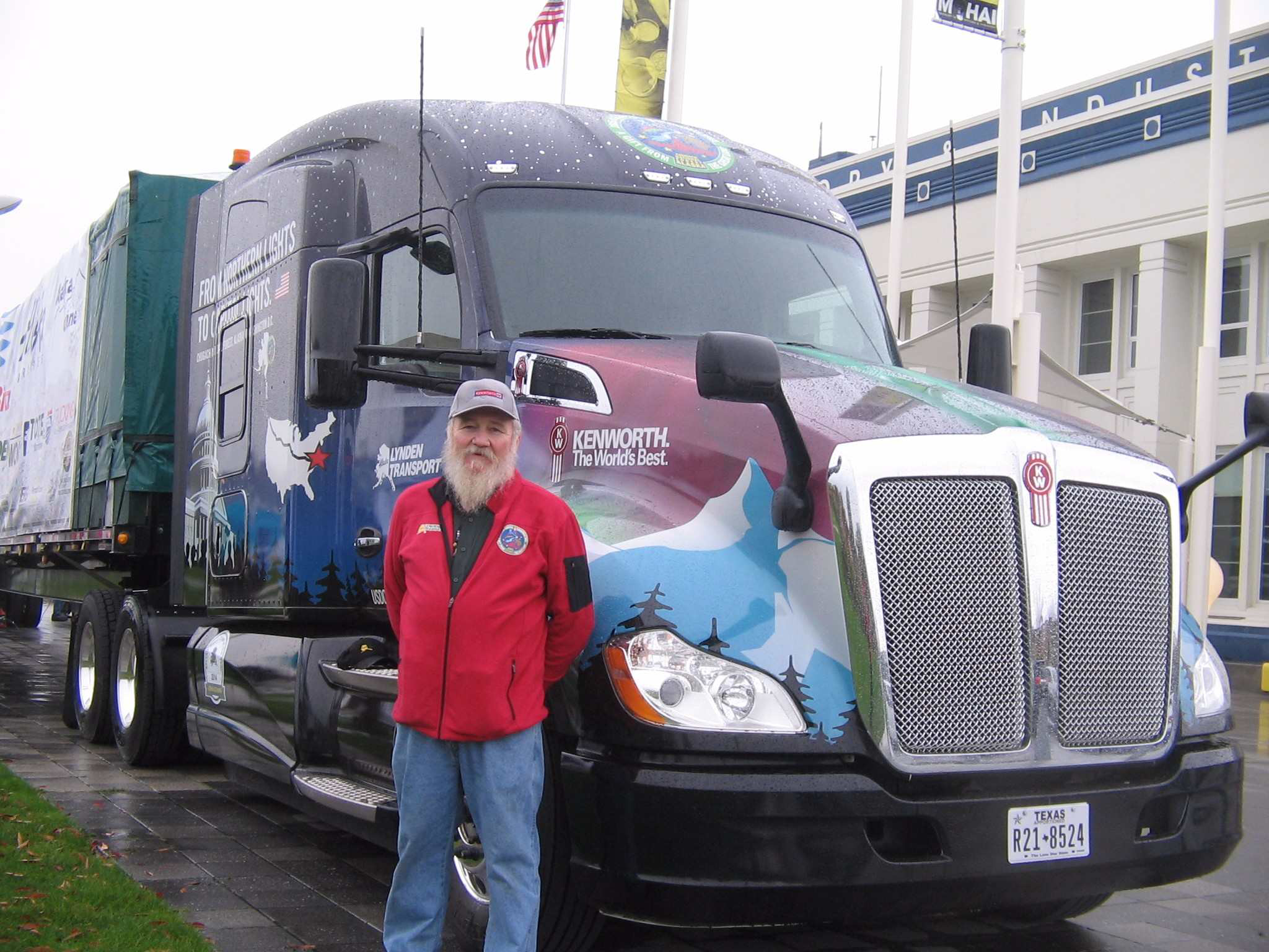 Lynden Transport driver John Schank – who has logged more than 5 million miles on the Dalton Highway between Fairbanks and Prudhoe Bay, Alaska – received the honor of serving as the tour driver for the U.S. Capitol Christmas Tree. He delivered the tree to Joint Base Andrews, Md., on Wednesday, Nov. 18, and to Washington, D.C., on Friday, Nov. 20.
