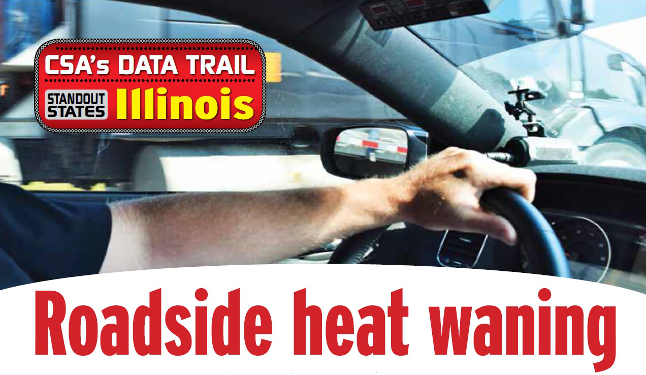 Roadside heat waning in Illinois