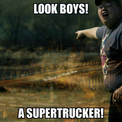 Never fear, Supertrucker is always near