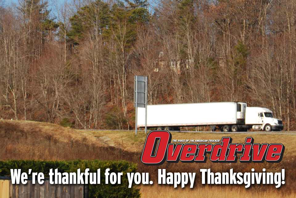 Happy Thanksgiving, drivers!