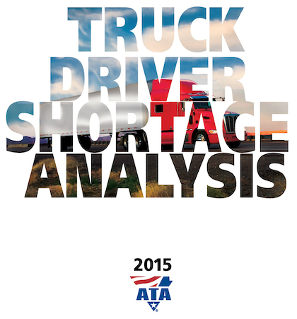 """If the trend stays on course, there will likely be severe supply chain disruptions resulting in significant shipping delays, higher inventory carrying costs and perhaps shortages at stores."" --ATA, 2015 driver shortage study"