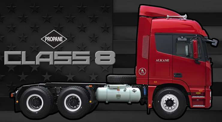 Company launching Class 7, Class 8 propane-powered cabovers