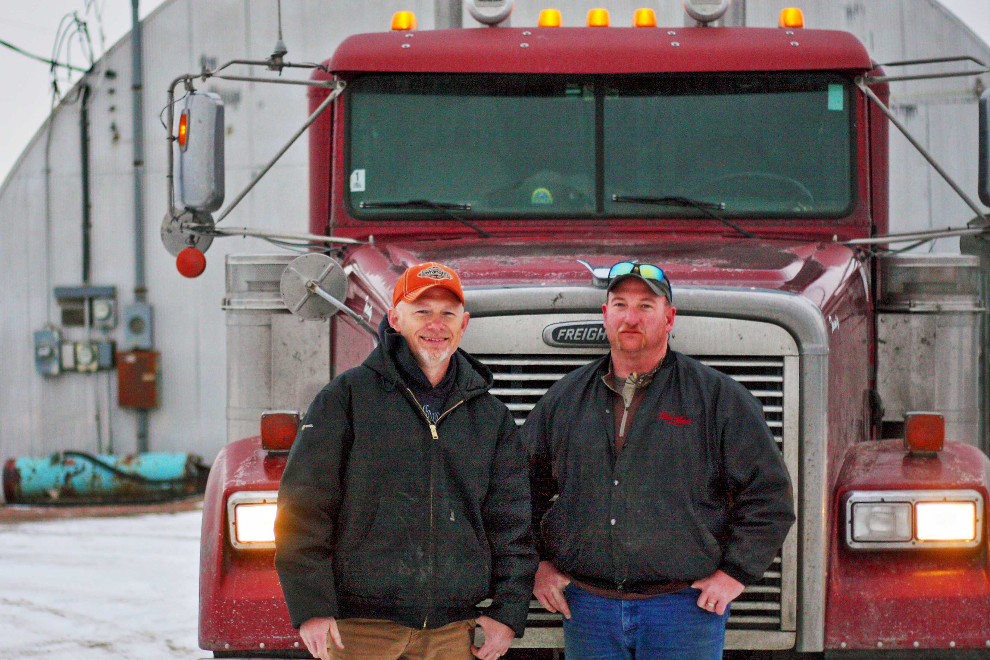 The author of this story, Don Christner (left, with frequent running partner Mike McGinty), pulls a tanker after years of experience in a variety of industry segments.