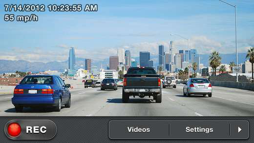 Turning your phone into a dashcam