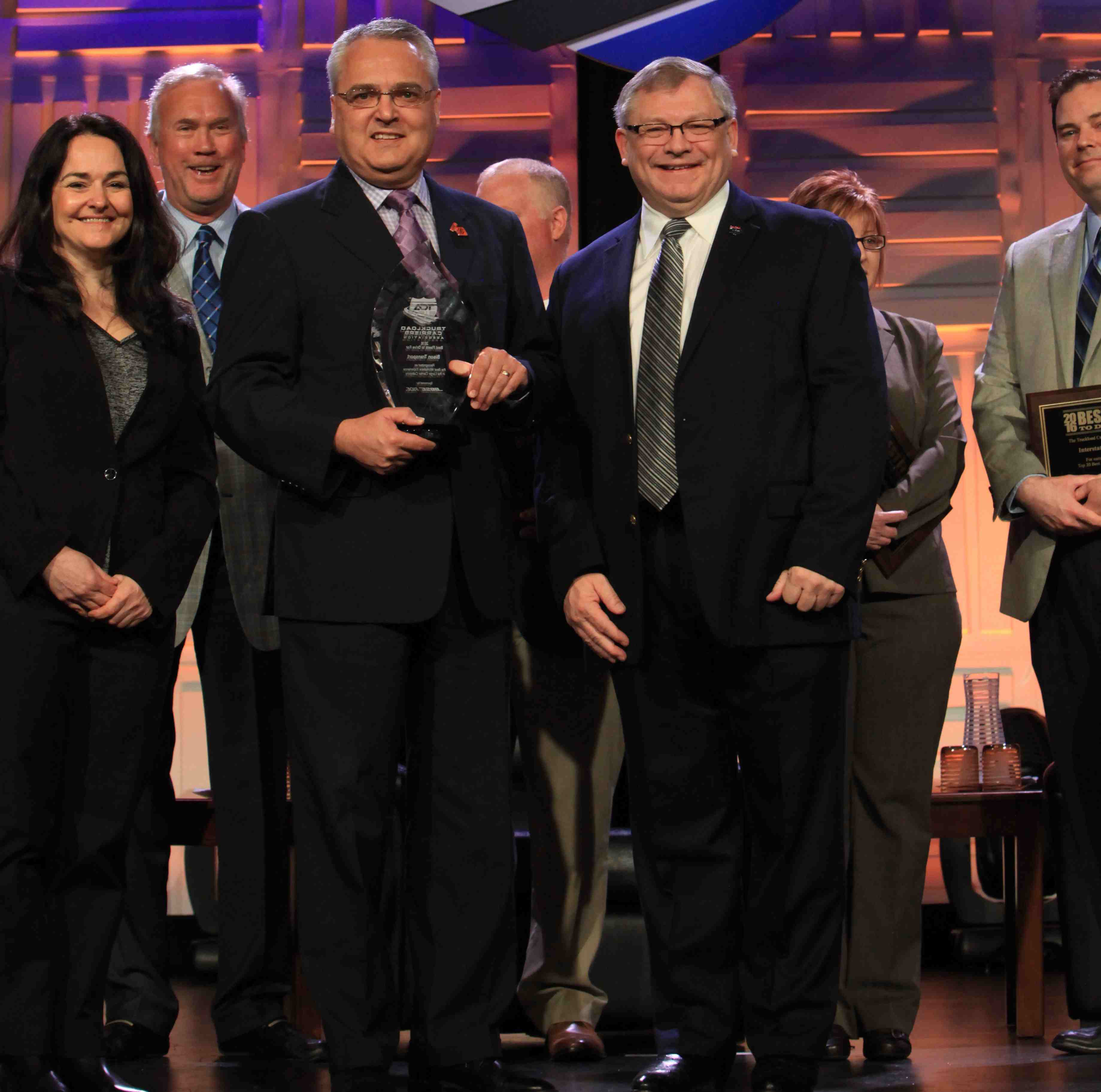 Bison Transport was named Best Overall Fleet in the large carrier category.