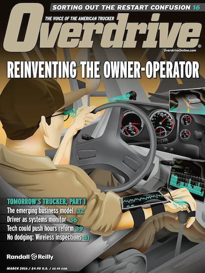 """Post-crash civil litigation can be viewed as at least contributing to carriers' uptake of monitoring equipment. For more about the future of such equipment as it relates, access installments in Overdrive's March/April """"Tomorrow's Trucker"""" multipart feature via this link."""