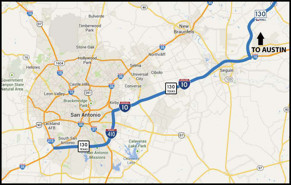 Map Of Texas I 35.Texas Cuts Trucker Tolls On Sh 130 To Alleviate I 35 Congestion