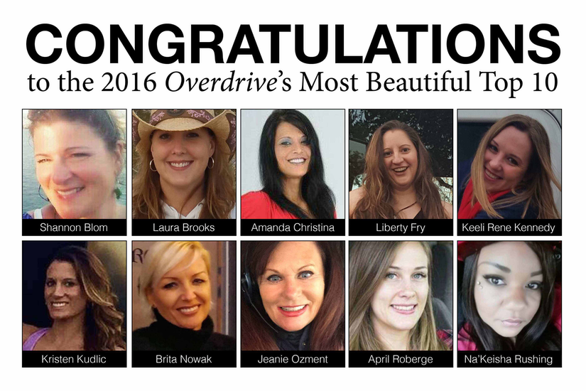 Overdrive's Most Beautiful 2016 top 10