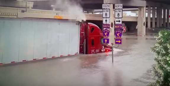 Truck driver killed in Houston flooding after historic rainfall
