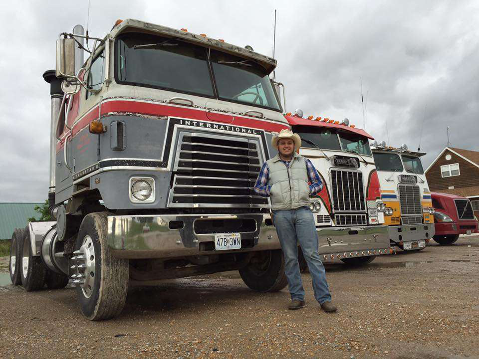 """Yoder's Transtar is powered by a 290 Cummins. """"He uses it quite a bit to haul agricultural commodities around Missouri,"""" Campbell says. """"It's a work in progress but she is in fine shape in a great working classic. It's good to see the younger generation interested in the trucks of yesteryear. We enjoyed ourselves quite well tonight."""" Photos courtesy of Campbell. Find more about the Back in Time Tour via Wendy's piece. She'll be sharing more next week."""