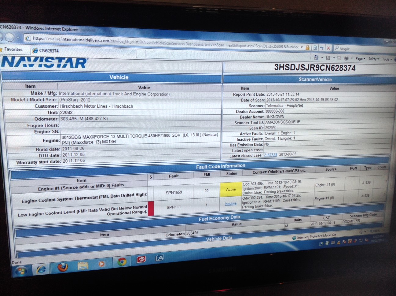 Navistar remote diagnostics system hits 200,000 vehicle milestone