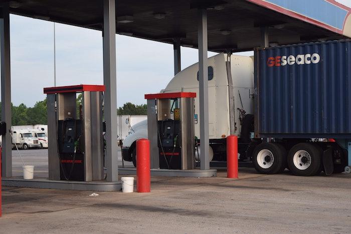 truckstop truck stop hours of service evening parking hos fuel island20160526_0010