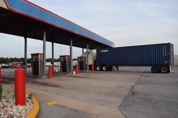 truckstop truck stop hours of service evening parking hos fuel island20160526_0011