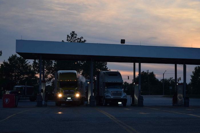 truckstop truck stop hours of service evening parking hos fuel island20160526_0047