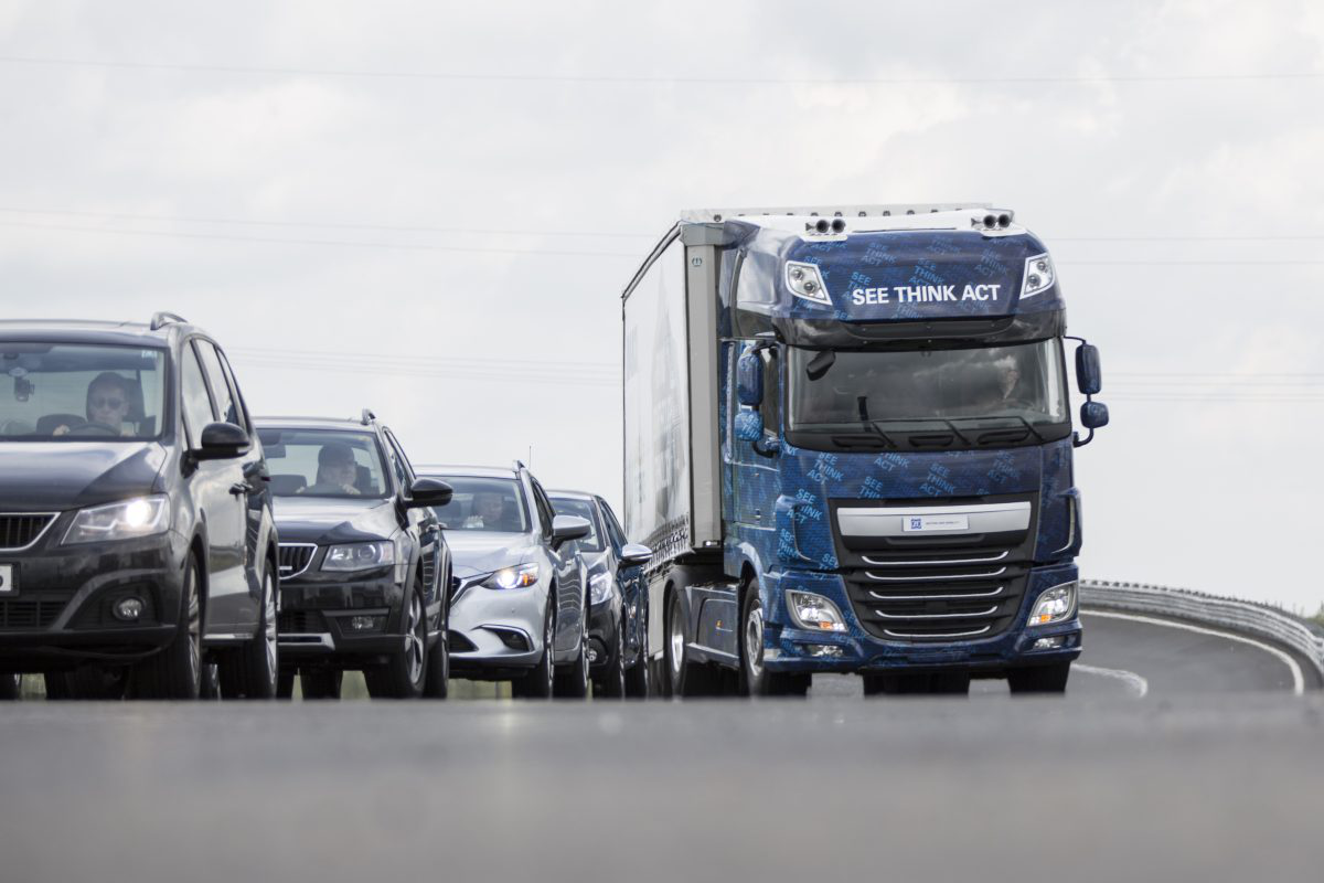 New collision mitigation system can take over truck's steering to evade rear-end crashes