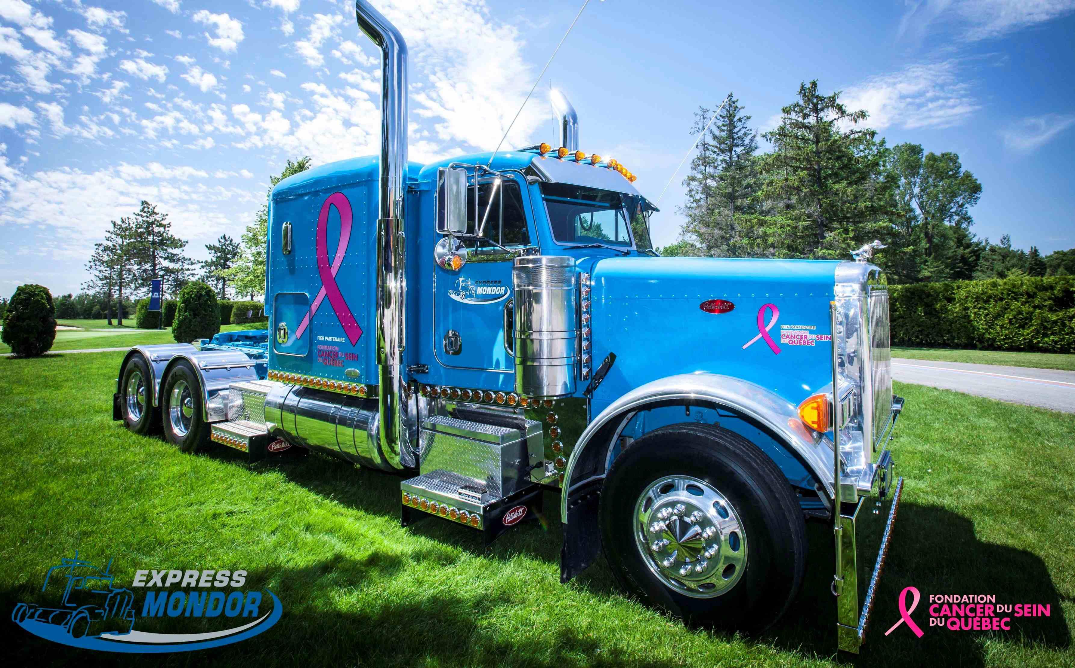 Oversize hauler donates to breast-cancer effort