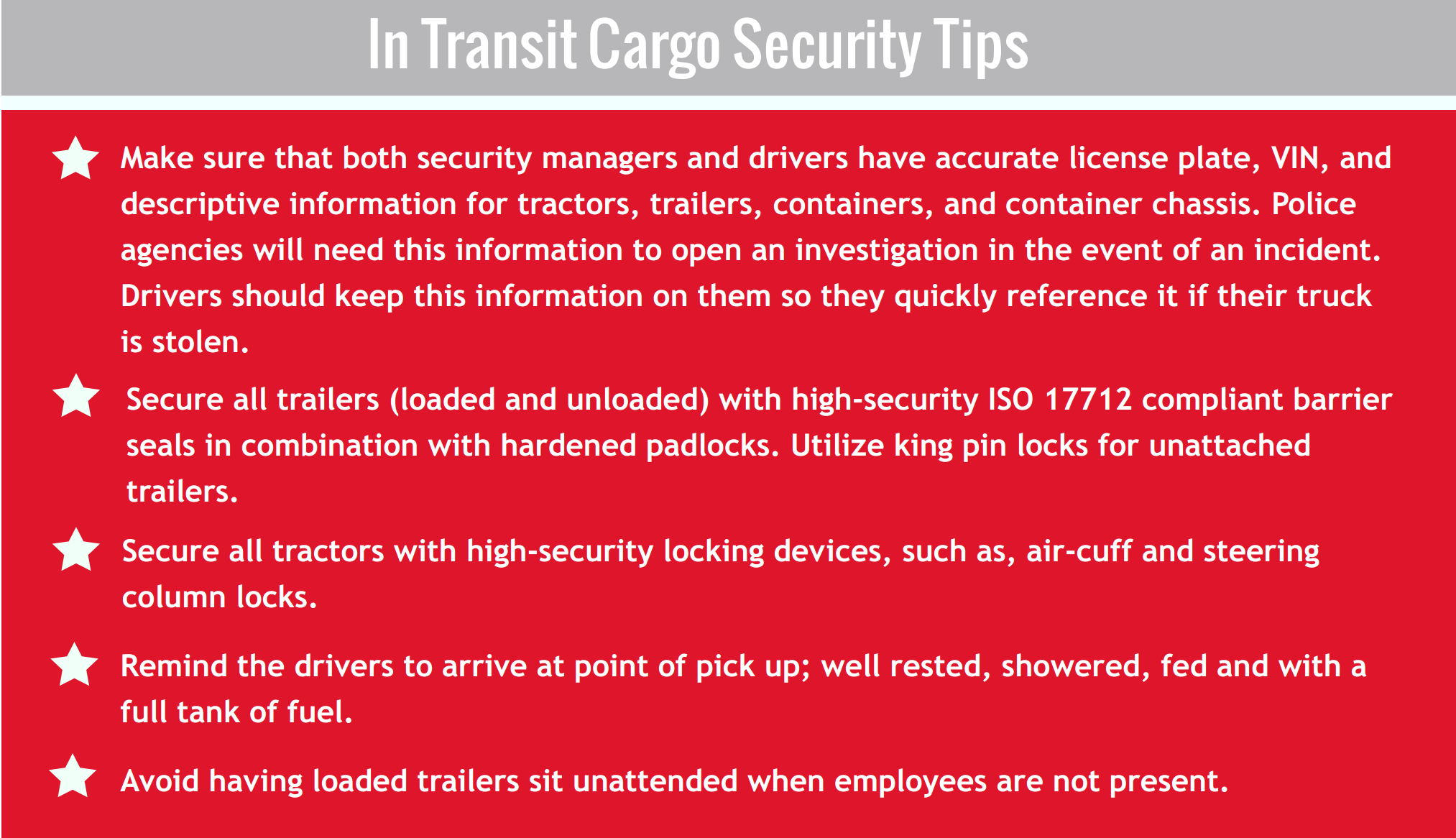 Cargo thefts predicted to rise during July 4 weekend