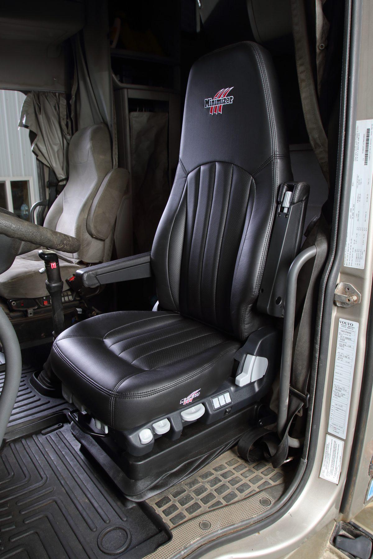 Minimizer leather truck seats
