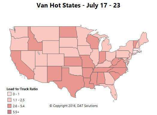 Spot market update: Seasonal reefer slump continues, van and flat show more strength