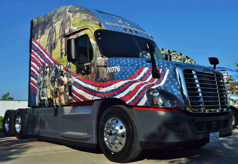 U.S. Xpress launches military hiring initiative, unveils custom-designed tractors | Overdrive ...