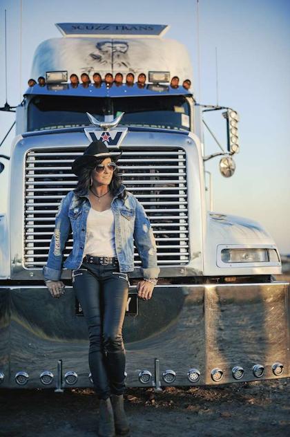 jayne-denham-with-ned-kelly-truck