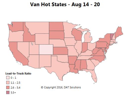 Spot market update -- van, reefer transitional period, and a few hot markets