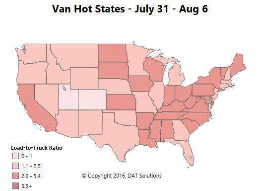 Holding pattern: Van, reefer rates flat nationally but some markets heat up