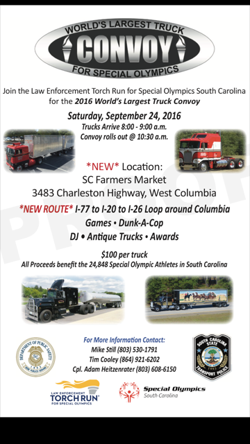 World's largest truck convoy -- S.C. edition