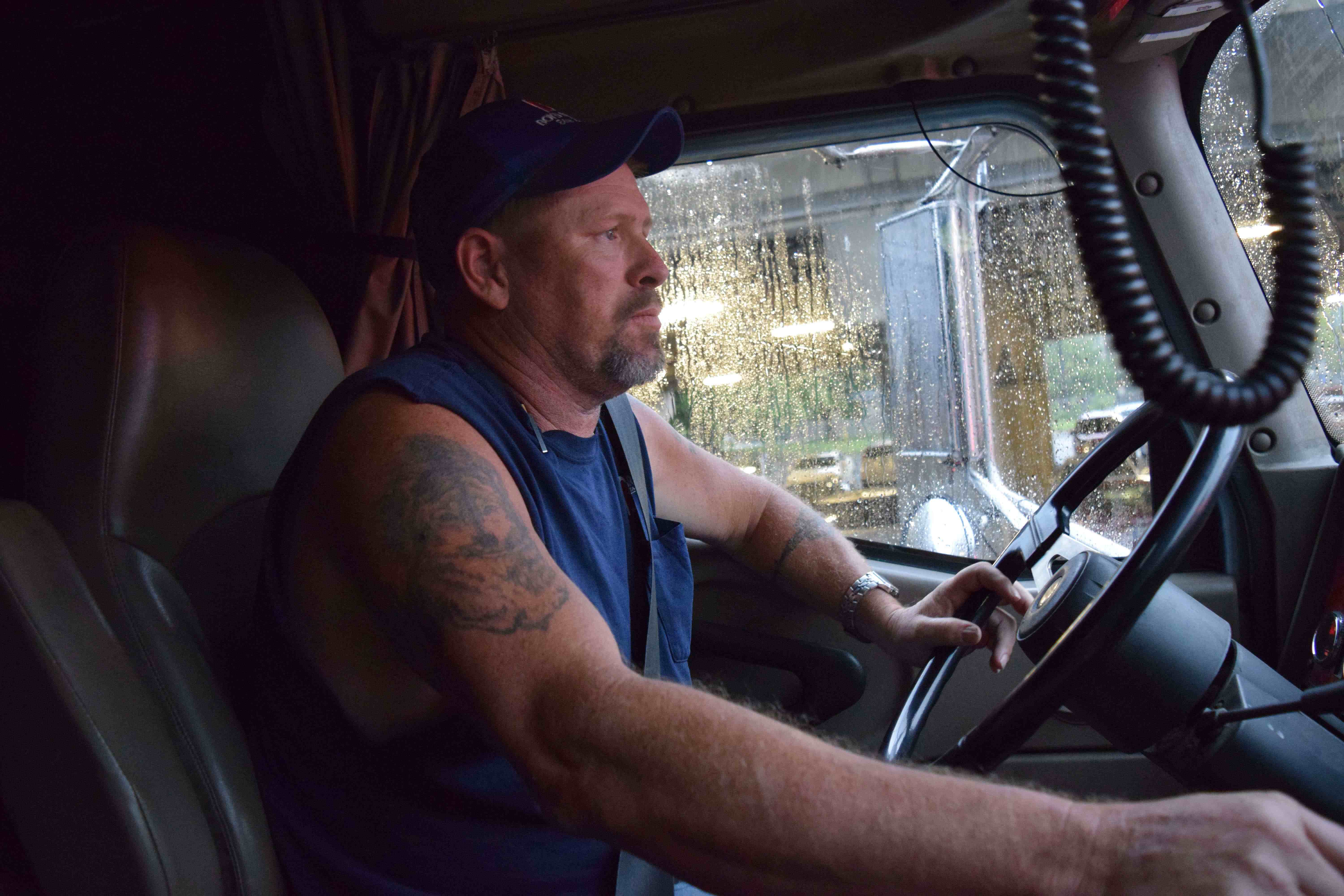 Owner-operator Dan Heister on the right loads, tolerating 'trucking's BS' and the importance of savings accounts