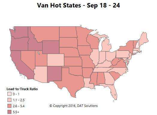 Spot market update: If you're following the demand, 'Go west, young man'