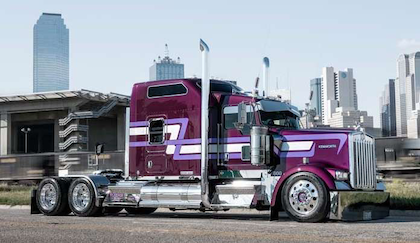 """Small fleet participation in Overdrive's Pride & Polish and similar truck beauty shows helps raise a business' profile with drivers by virtue of equipment excellence. """"It's given us more visibility,"""" says Fleenor Bros.' Kyle Cousins, whose pictured Kenworth brought him big wins in this year's Pride & Polish National Championship. """"We've been in Joplin for 20 years, and there were people in Joplin who didn't know we were there."""" Today, """"people know us by Overdrive's interviews"""" and the standard of excellence shown in winning equipment. """"Right now, we have a waiting list to put drivers on."""""""