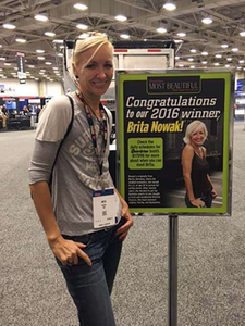 Brita Nowak attended the Great American Trucking Show in late August, where she met show attendees, received her Most Beautiful crown and modeled for a photo shoot for an issue of Overdrive.