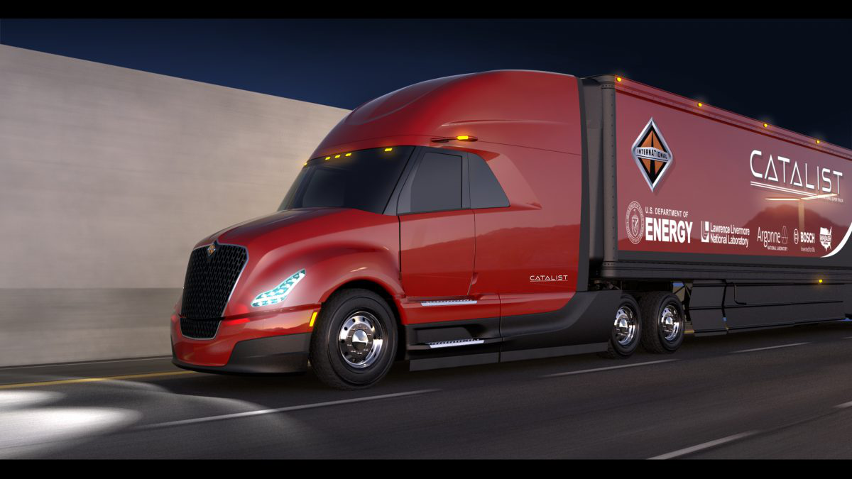 Advanced cruise control system pushes Navistar SuperTruck to double efficiency standards set by DOE, company says