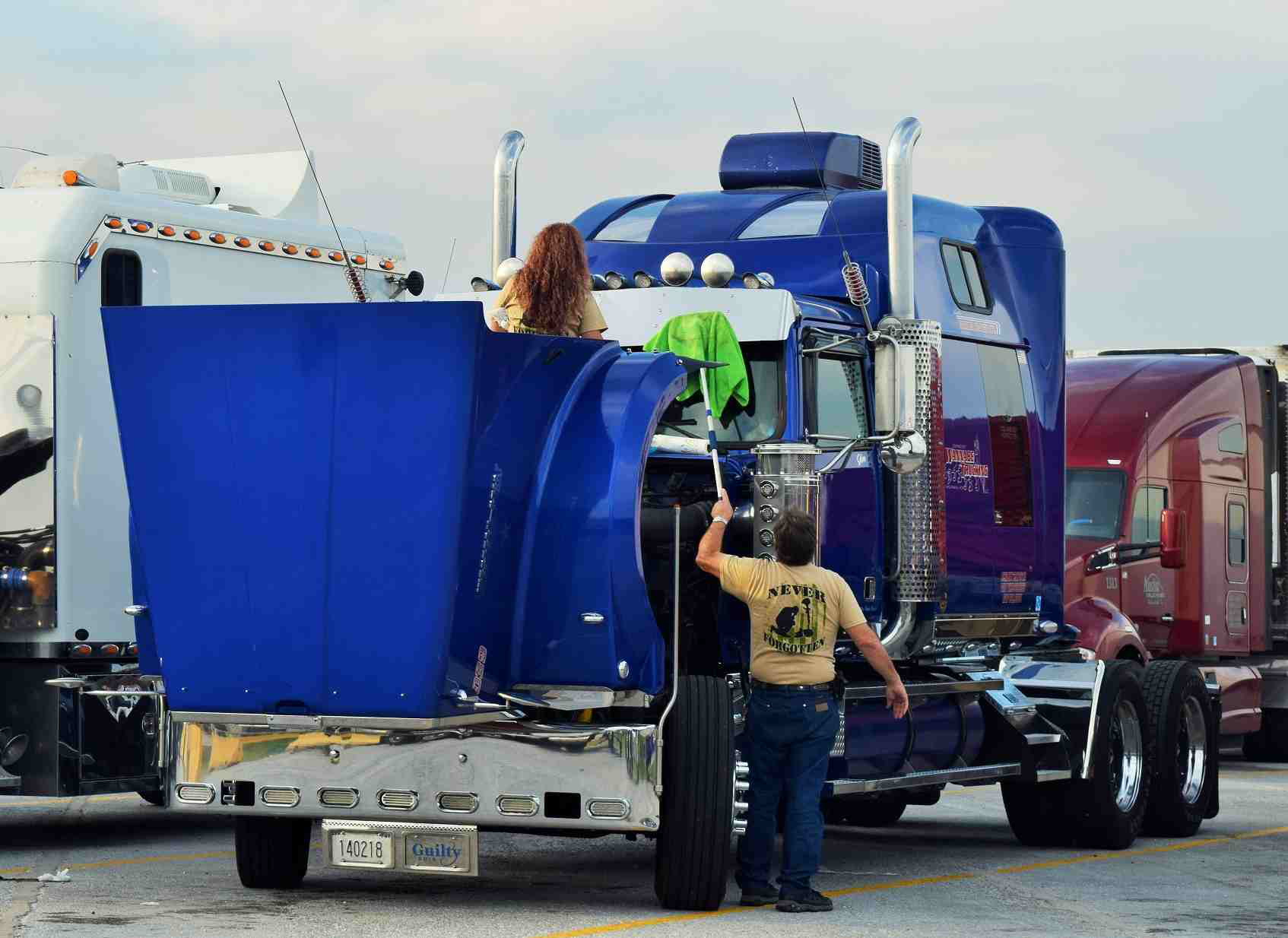 The couple, based in Kansas, met after Jim bought the Western Star from Tani's parents in 2012.