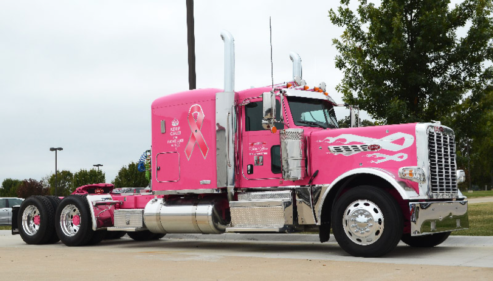 An 'honor and a privilege' --Terry Fish on what it means to drive the 'Optimus Prime' of breast cancer awareness