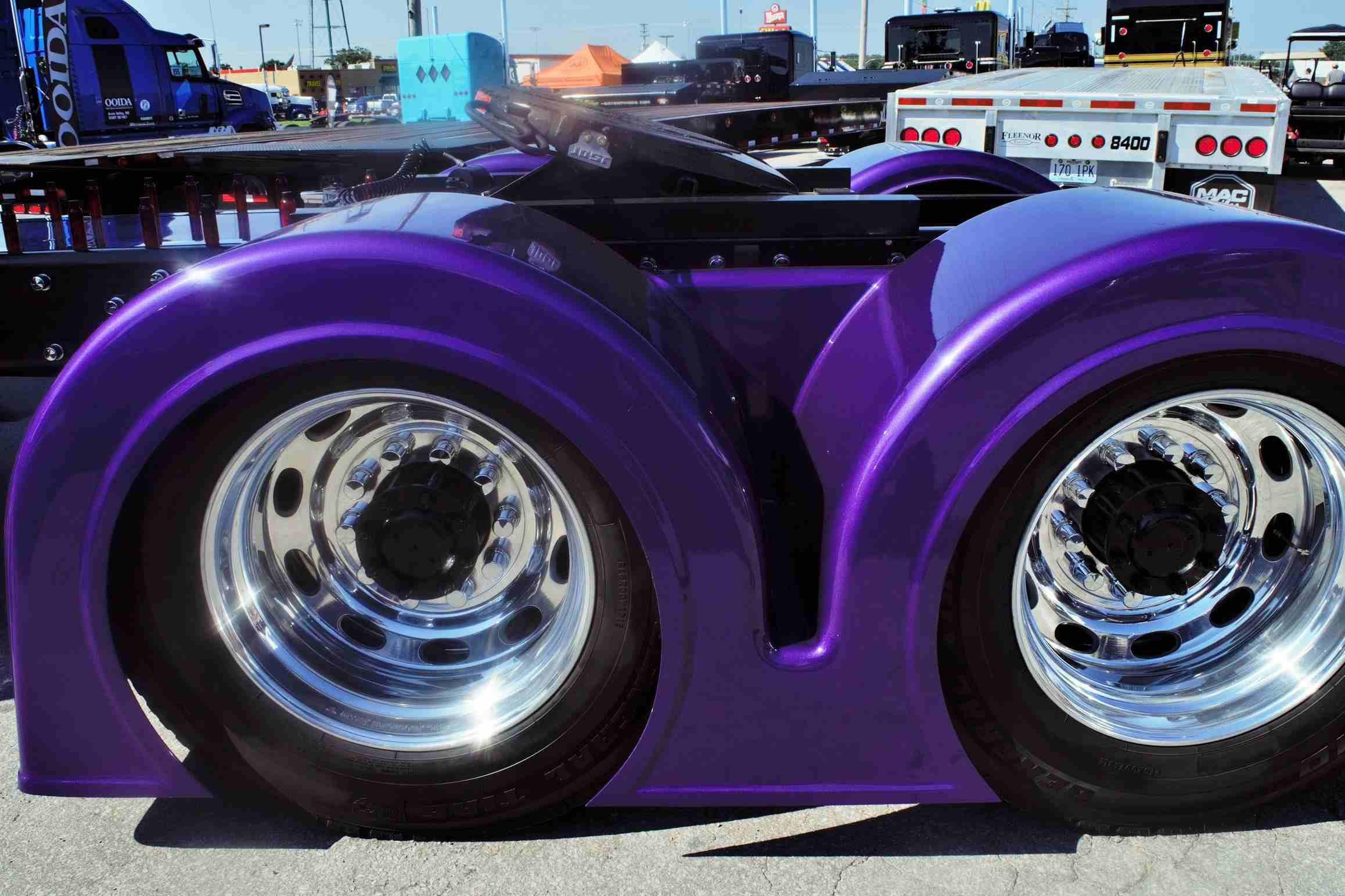 These fenders by Bad Ass Custom Truck Parts.