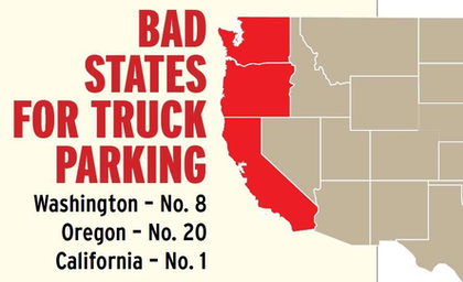 States along the I-5 corridor ranked fairly high for the biggest truck-parking issues in Overdrive's December 2015 analysis of the problem. That ranking was based in part on data from the Jason's Law survey and Overdrive's own reader survey about the parking issue.