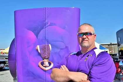Purple heart recipient and owner-operator Sean McEndree served in Iraq early this century, where a convoy ambush left him wounded.