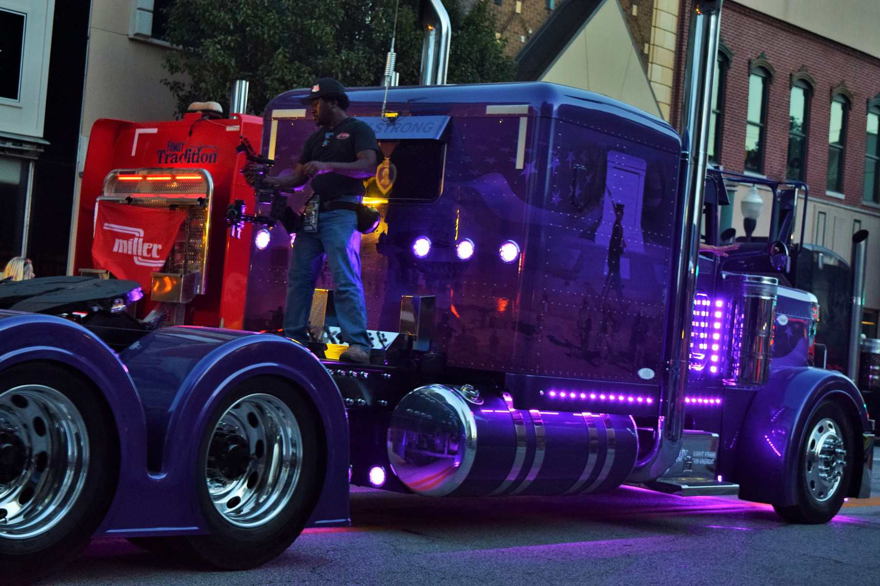 Trux lights, here shown in the Special Olympics convoy that followed the Guilty by Association show.