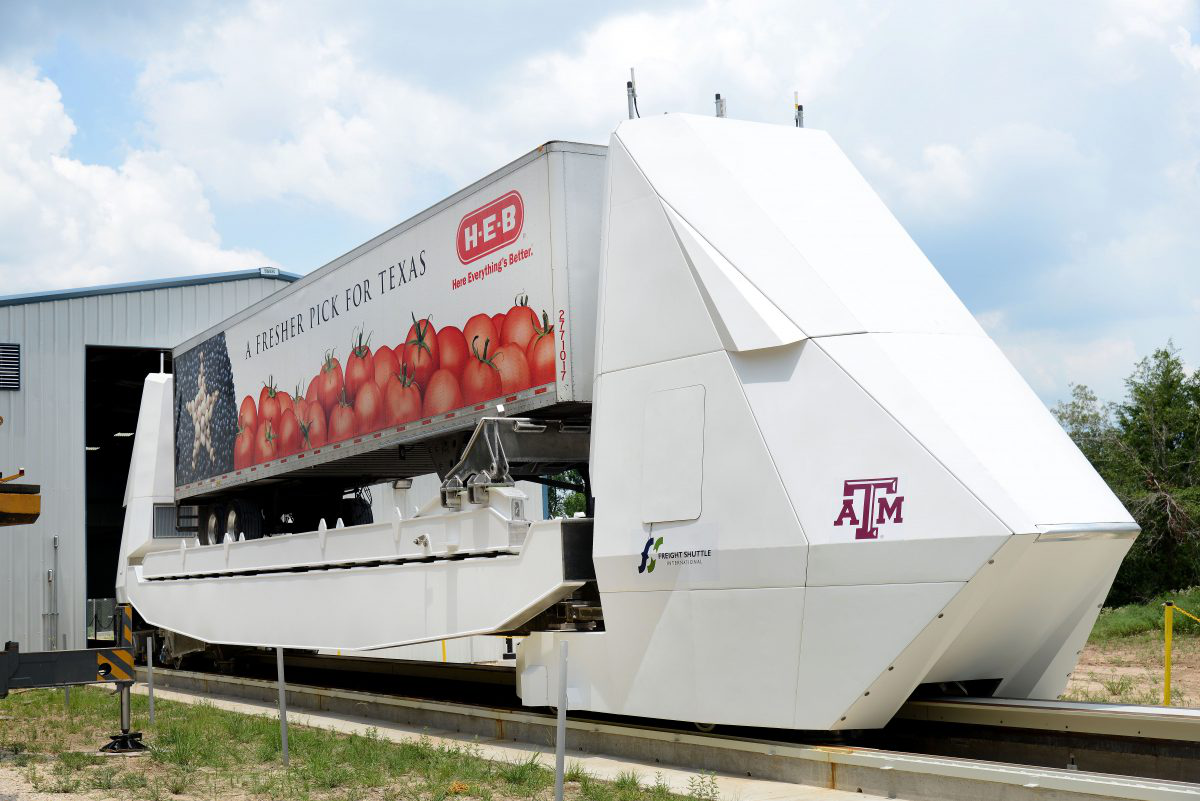Texas A&M unveils truck-less, electric freight system
