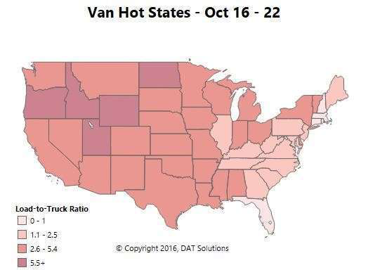Spot market: Mixed bag for flatbed, dry van, reefer