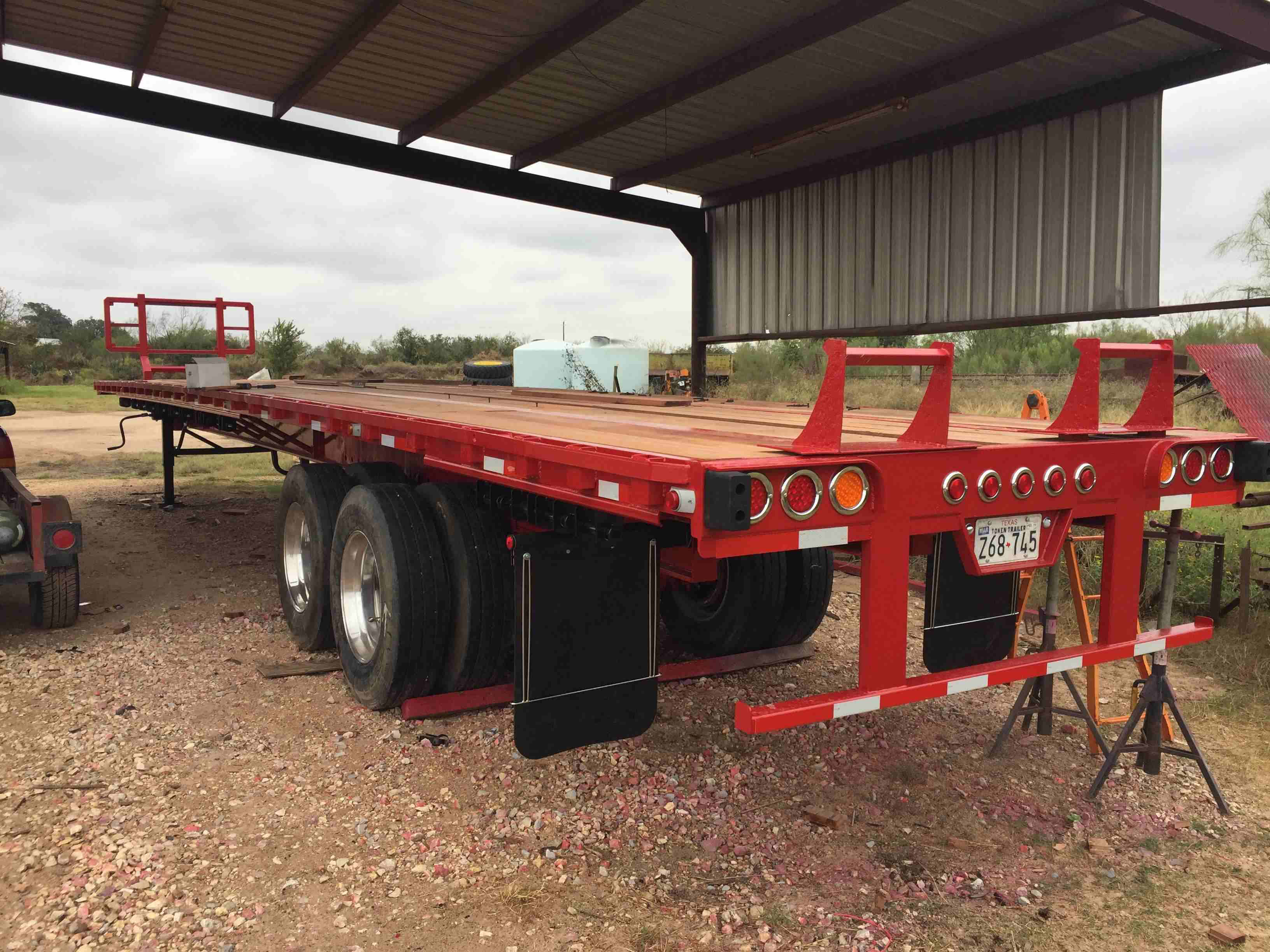 What does it cost to rebuild and extend a 1986 48-foot Trailmobile flatbed?